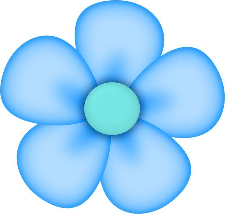 5 Petal Flower Clipart