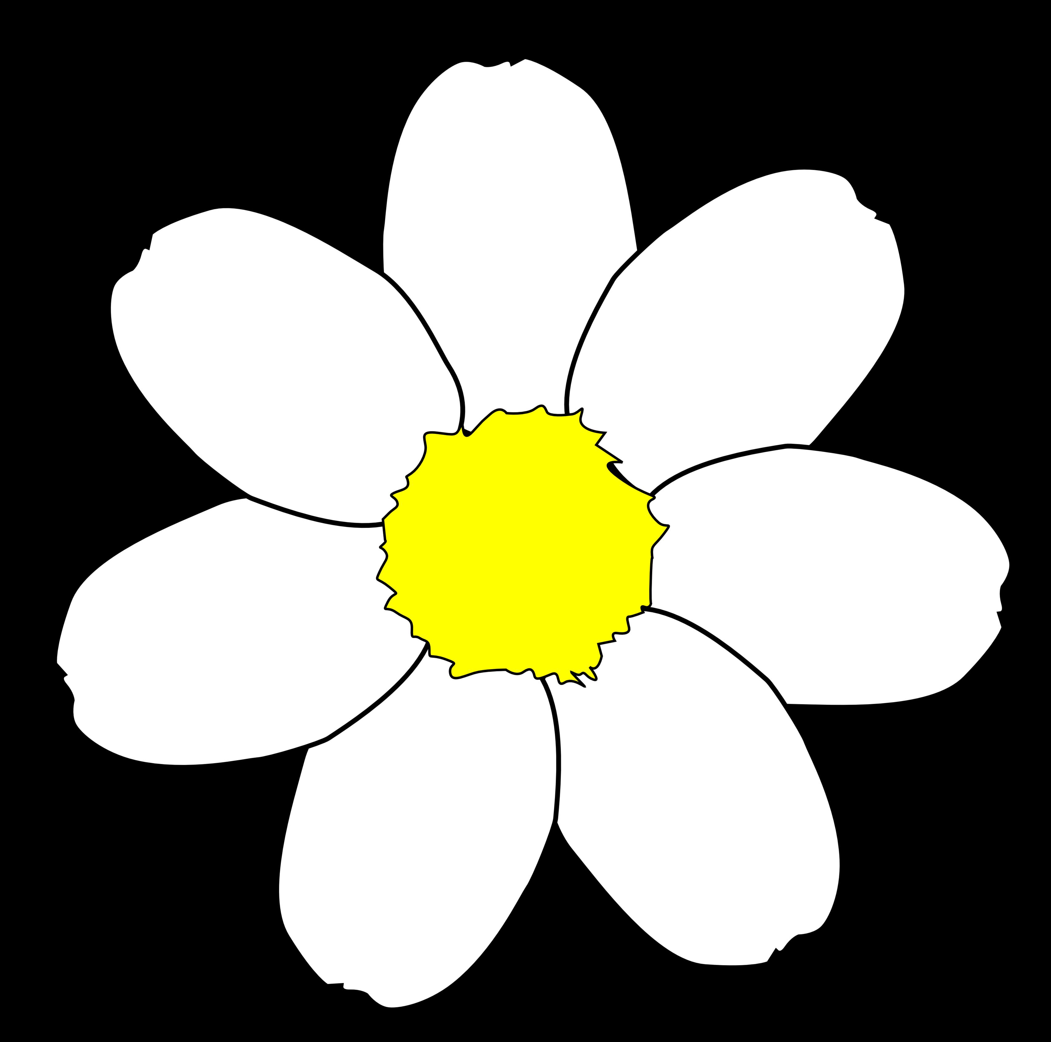 3420x3391 Daisy Clipart Flower Outline