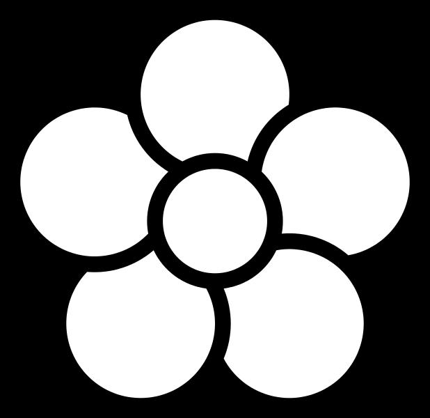 618x600 Filefive Petal Flower Icon.white.svg