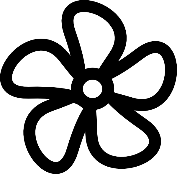 600x590 Flower Clip Art