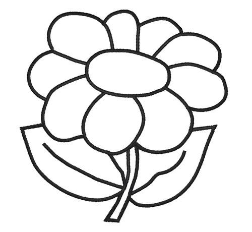 500x460 Flower Outline Clipart