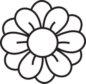 300x291 Hawaiian Flower Clip Art Black And White Clipart Panda