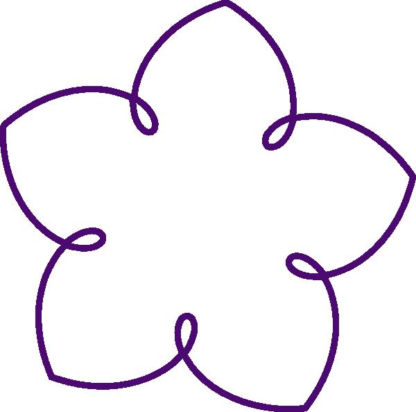 600x594 Purple Flower Shape Clip Art