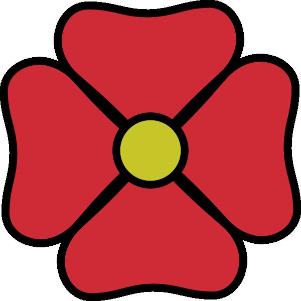 600x600 Red Flower Clip Art