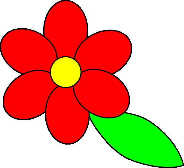 600x545 4 Petal Flower Clipart