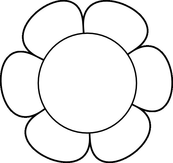 600x564 White Flower Clipart Flower Petal