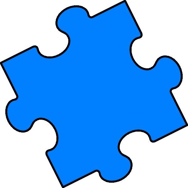 600x600 Blue Puzzle Piece Clip Art