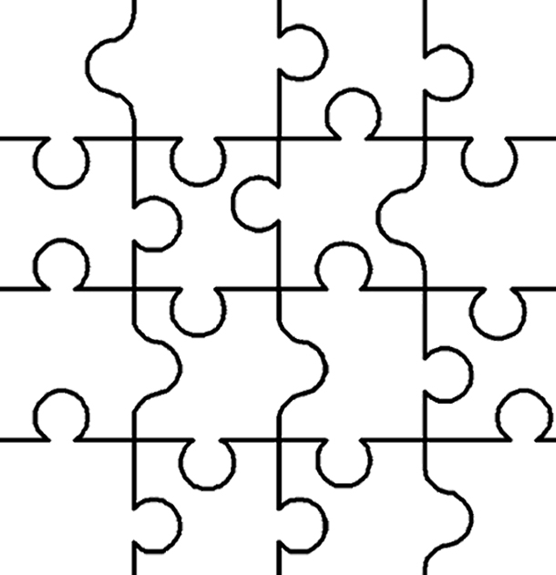 610x631 Coloring Pages Puzzle Coloring Page Pages 5 Puzzle Coloring Page