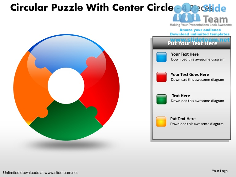 768x576 How To Create Make Circular Puzzle Pie Chart With Center Circle 4