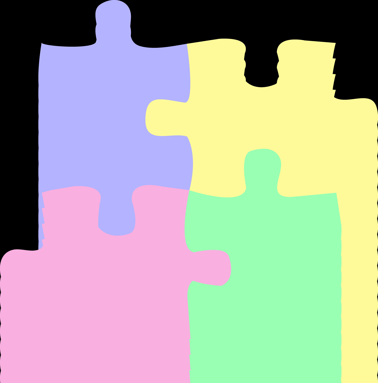 5617x5703 Pastel Clipart Puzzle Piece