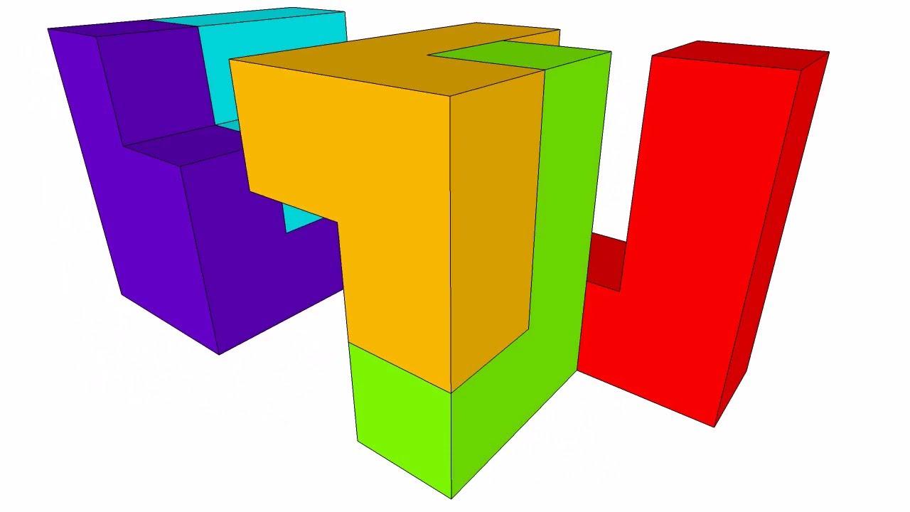 1280x720 Cube 5 Piece Puzzle B