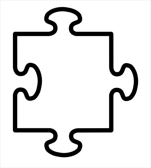 585x650 Printable Puzzle Piece