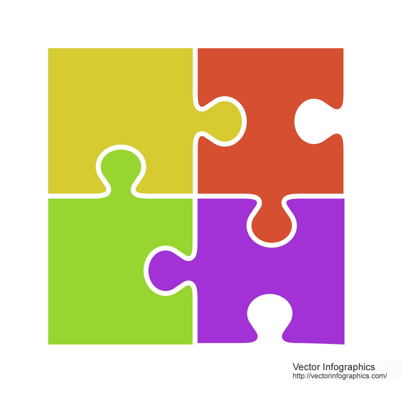 1600x1600 Puzzle Pieces Vector