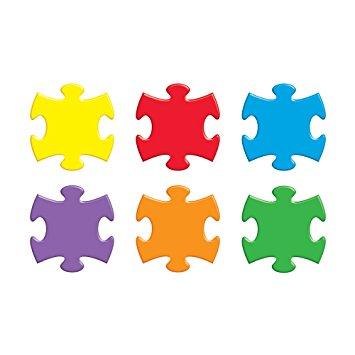 355x355 Argus Puzzle Pieces Classic Accents, 36pkg (T 10906