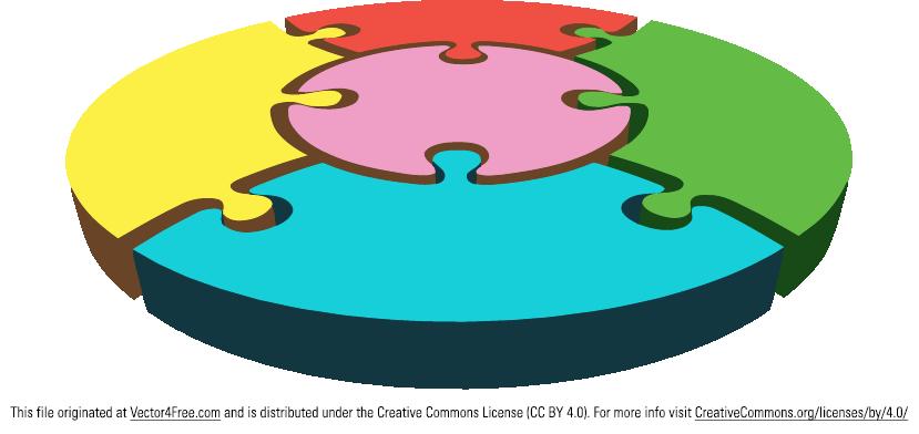 829x392 Free Circular Puzzle Vector