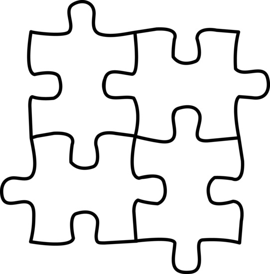 542x550 Free Clipart Puzzle Pieces