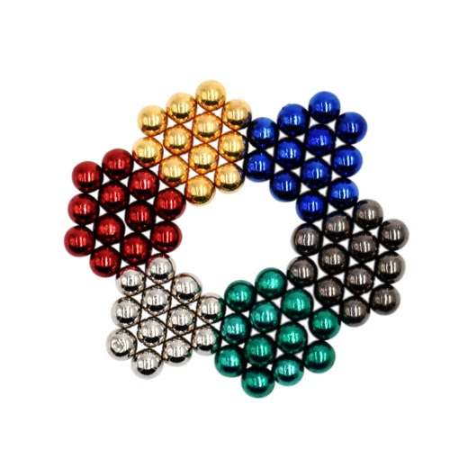 500x500 Multi Colored 5 Mm Ndfeb Magnetic Balls Magic Beads Spheres Puzzle