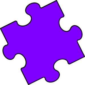 300x300 Purple Puzzle Piece Clip Art
