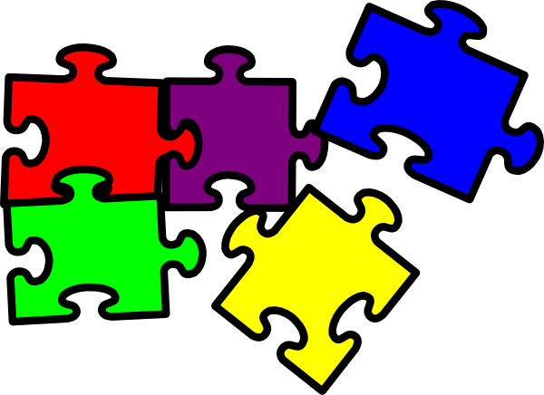 600x436 Puzzle Pieces Clip Art