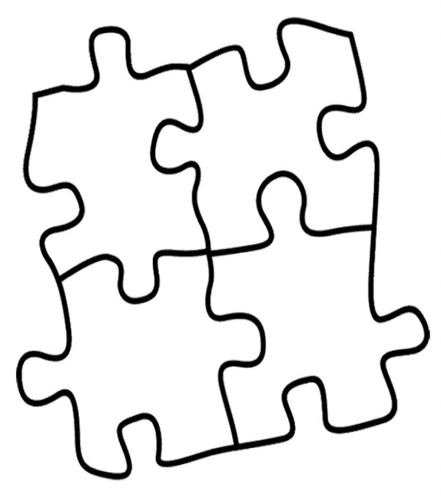 908x1024 Puzzle Clipart Coloring Page