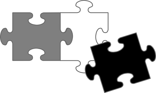 600x358 Black Puzzle Pieces Clip Art