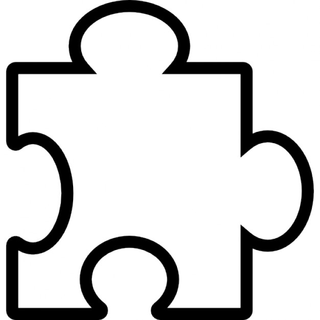 626x626 Puzzle Piece Outline Icons Free Download