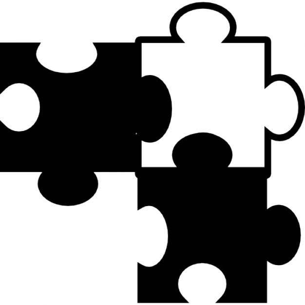 626x626 Puzzle Pieces In Black And White Variant Icons Free Download
