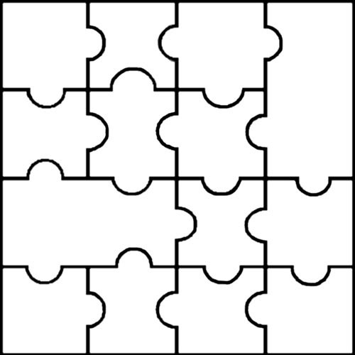500x500 Printable Puzzle Pieces Template Dakotaflower Com Home Free Blank