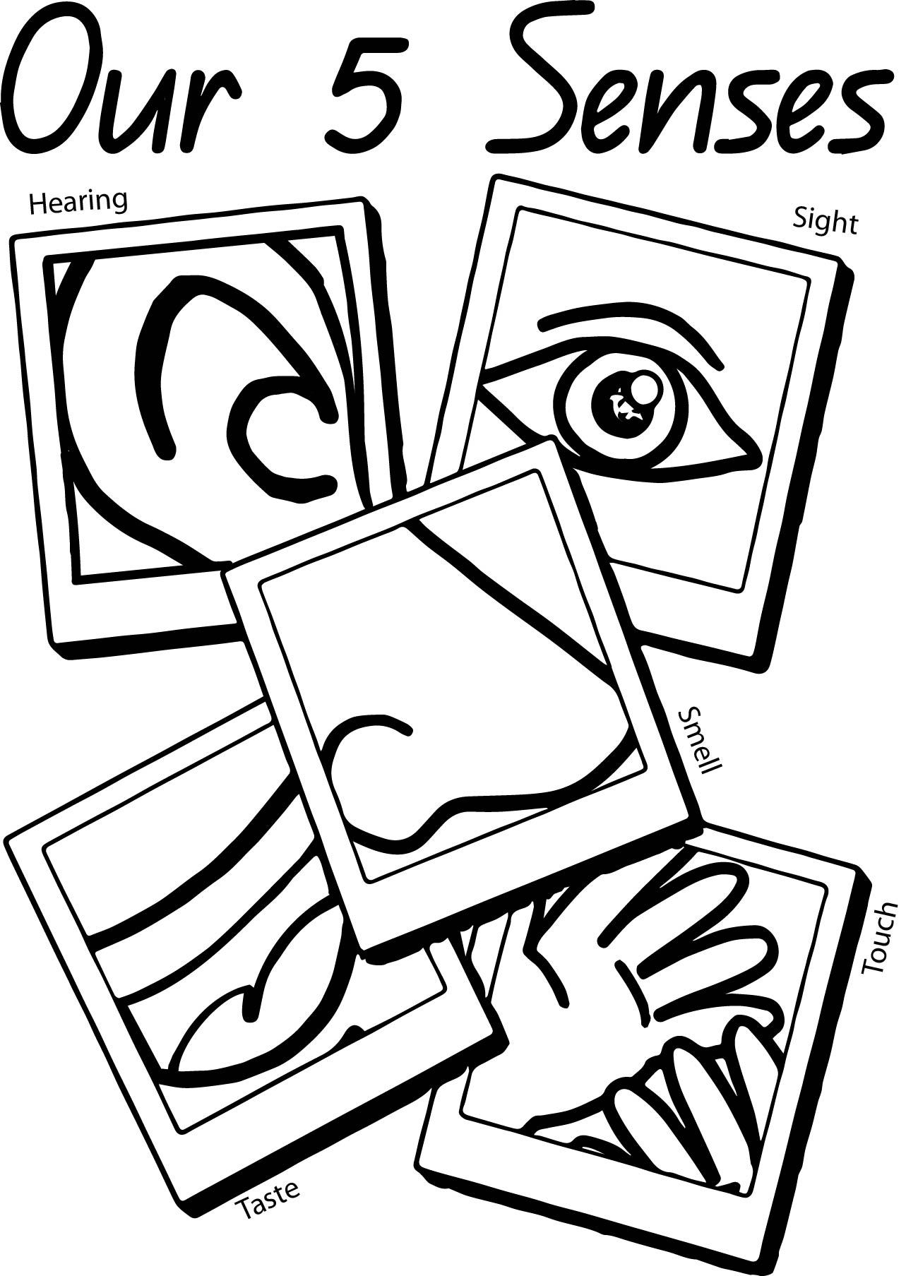 1283x1807 Our 5 Senses Page Coloring Page Wecoloringpage