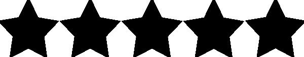 600x113 Five Star Rating Black Clip Art Clip Art