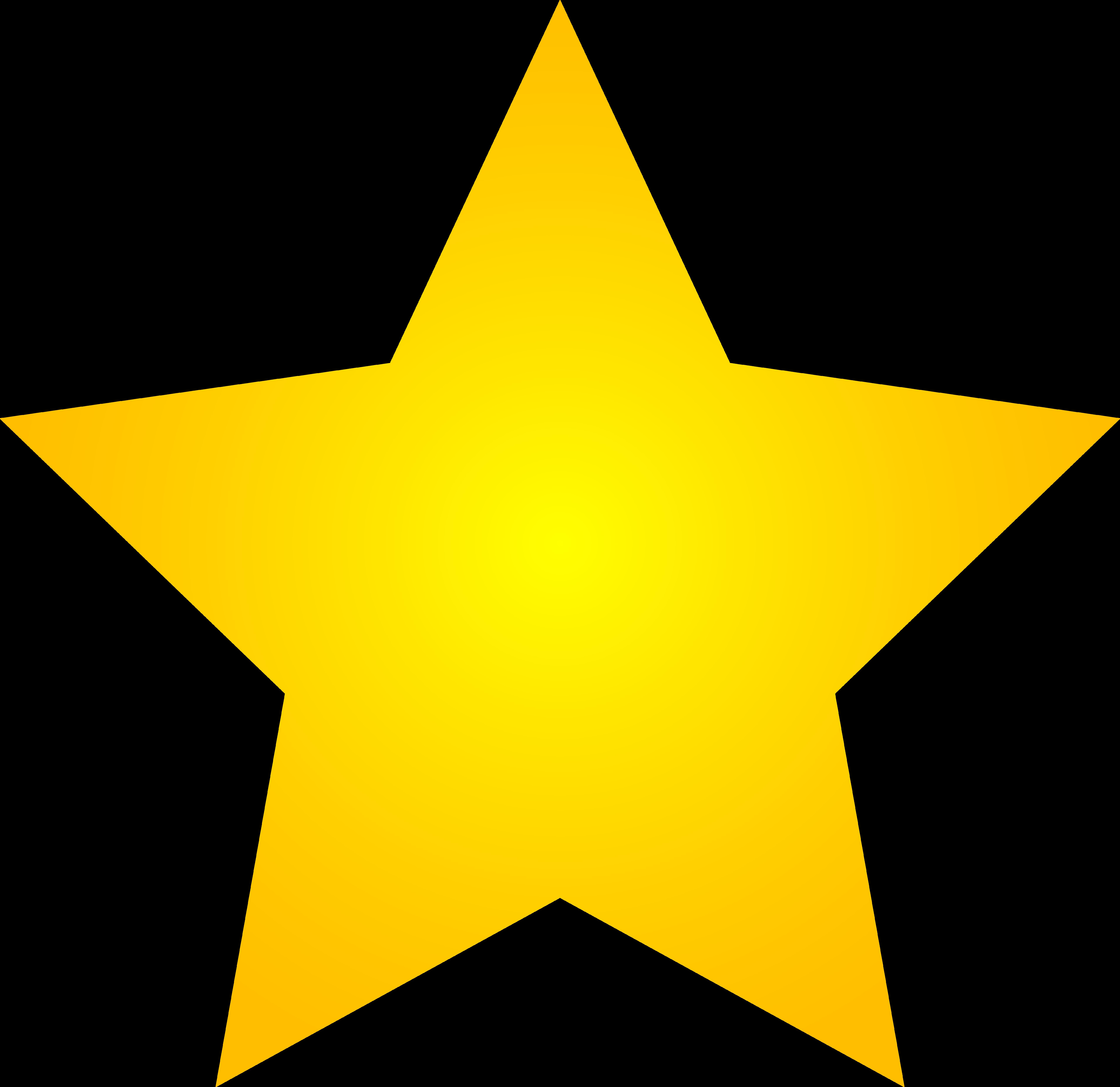 7628x7405 Golden Clipart All Star
