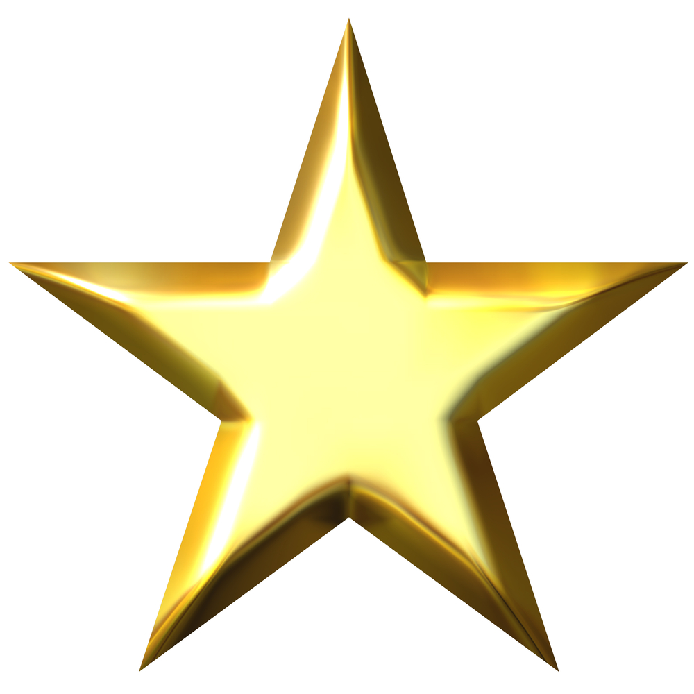 1000x1000 Gold 5 Star Clipart