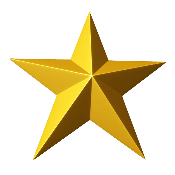 600x600 Gold Star Gold 5 Star Clipart Clipartfest 3