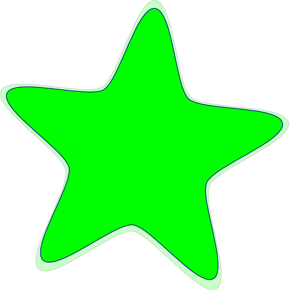 594x595 Green Star Clipart