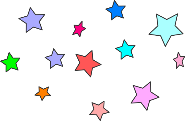600x393 Image Of Colorful Stars Clipart