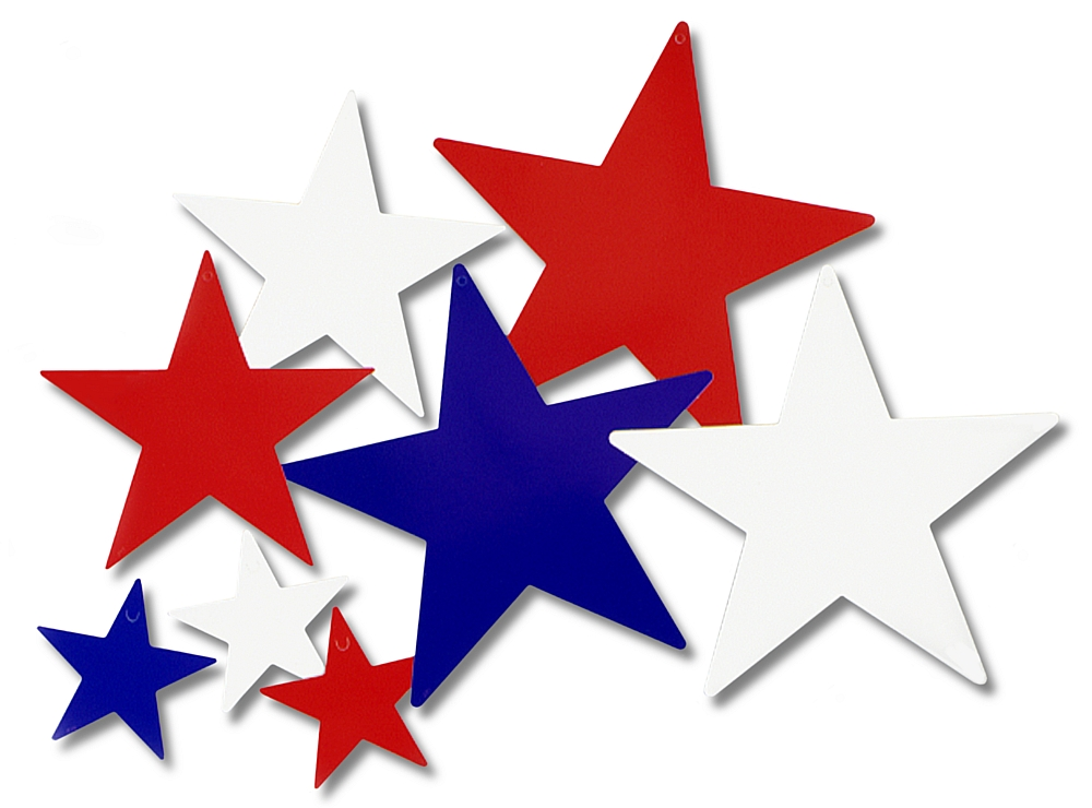 1000x740 Star Clipart Red And Blue