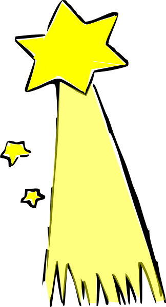 324x597 Stars Clipart Comet