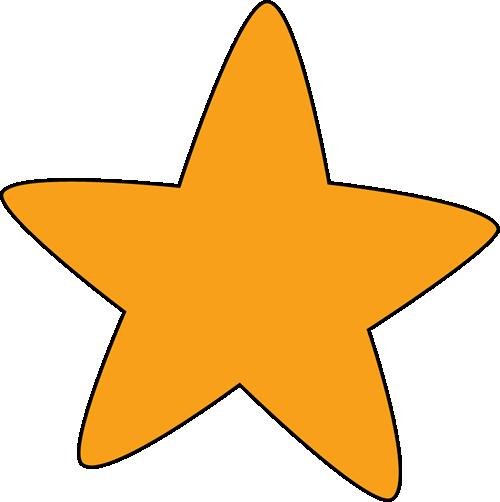 500x502 Stars Clipart Orange