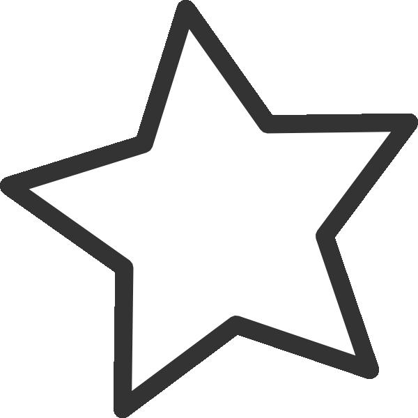 600x600 White Star Clip Art