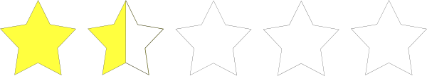 600x108 One And A Half Star Rating Clip Art