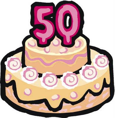 390x400 Image Of 50th Anniversary Clipart