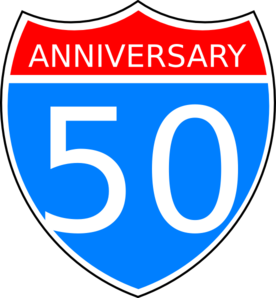 276x298 50th Anniversary Clip Art