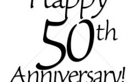 280x168 50th Wedding Anniversary Clipart