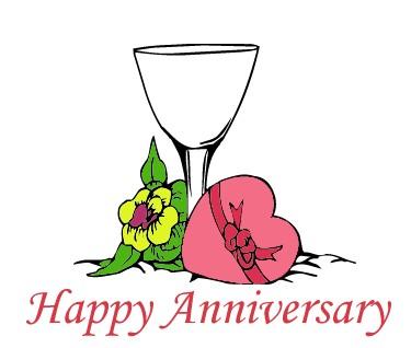 375x318 Free Clipart Wedding Anniversary