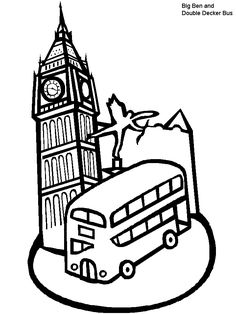 236x314 Collection Of Landmarks Around The World Coloring Pages
