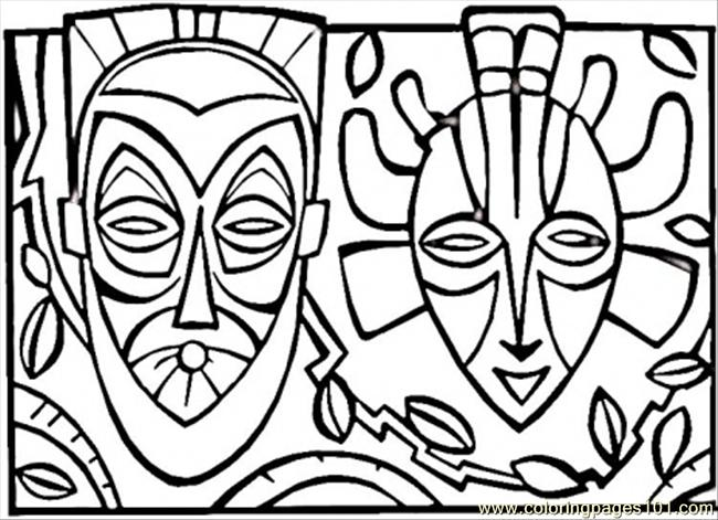 650x471 Coloring Pages African Mask (Countries Gt Africa)