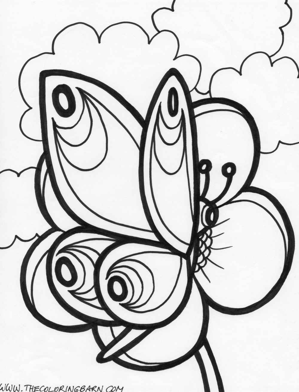 1000x1310 Endless Creations With Butterfly Coloring Pages Free Printable