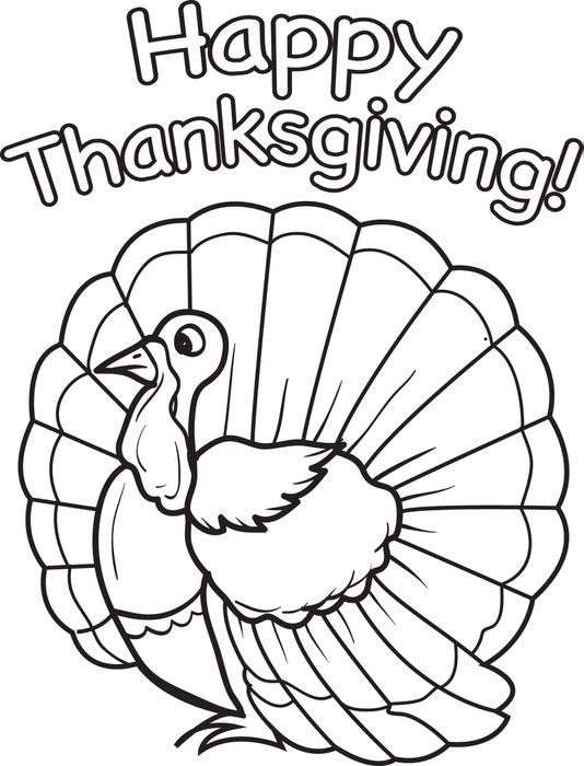534x700 Ideas Of Printable Thanksgiving Coloring Pages For Kindergarten