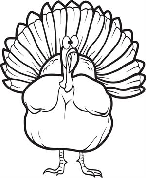 300x364 26 Free Turkey Coloring Pages For Kids