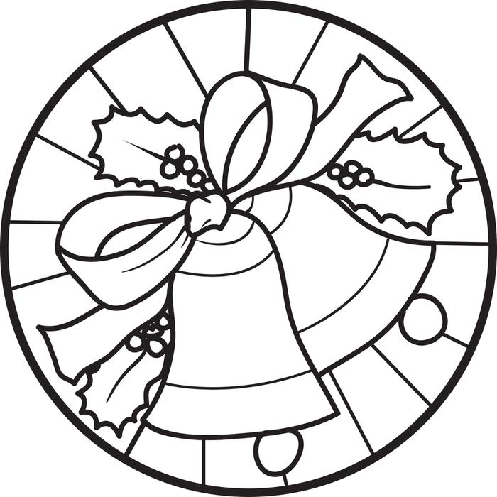 700x700 free printable christmas bells coloring page for kids